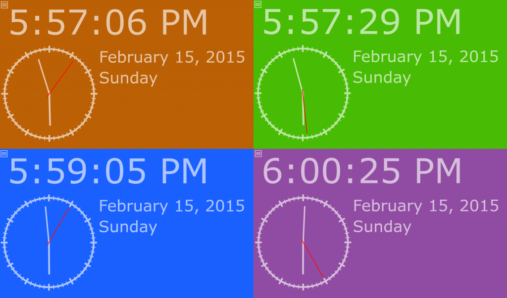Colorful Clocks! I really like these colors and shapes!